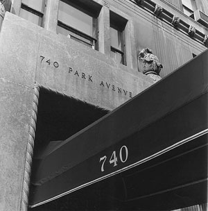 Awning of 740 Park