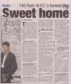 Scan of 740 Park Interview in NY Post