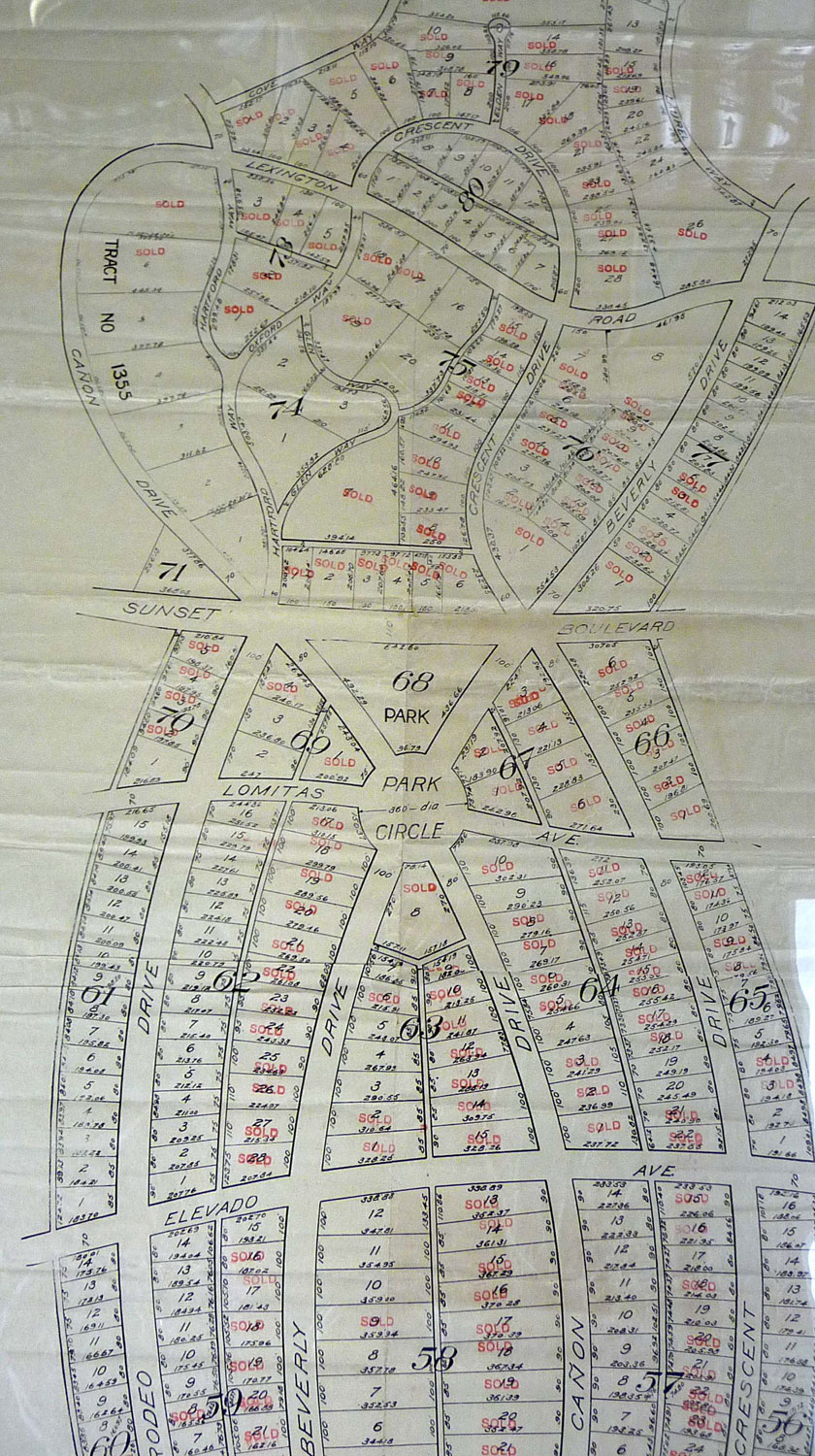 Original Beverly Hills subdivision map
