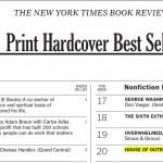 NYT list 4-6